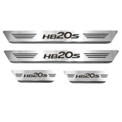 Soleira Porta Hyundai HB20S Mult Aço Inox Escovado