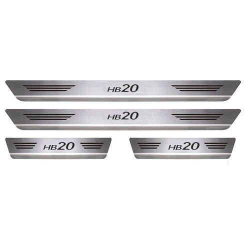 Soleira Porta Hyundai HB20 Mult Aço Inox Escovado