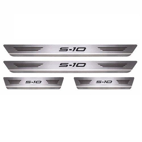 Soleira Porta Chevrolet S10 Cabine Dupla Mult Aço Inox Escovado
