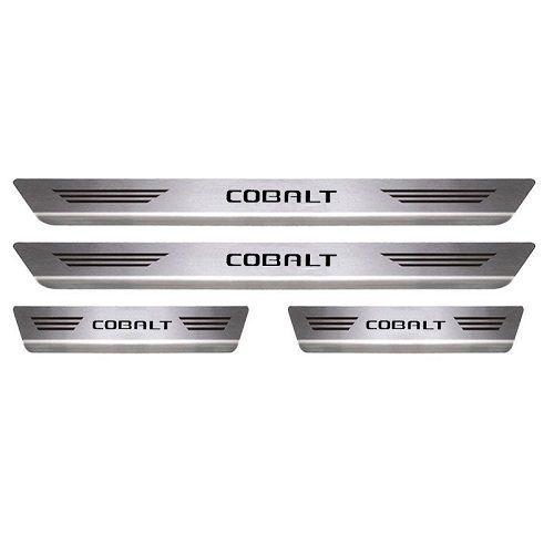 Soleira Porta Chevrolet Cobalt Mult Aço Inox Escovado