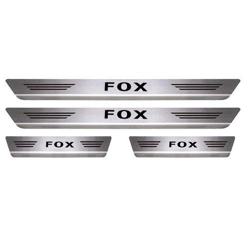 Soleira Porta Volkswagen Fox Mult Aço Inox Escovado