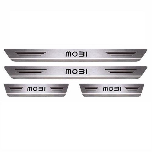Soleira de Porta Mult Fiat Mobi Aço Inox Escovado