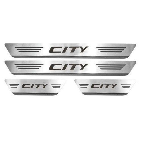 Soleira de Porta Mult Honda City Aço Inox Escovado
