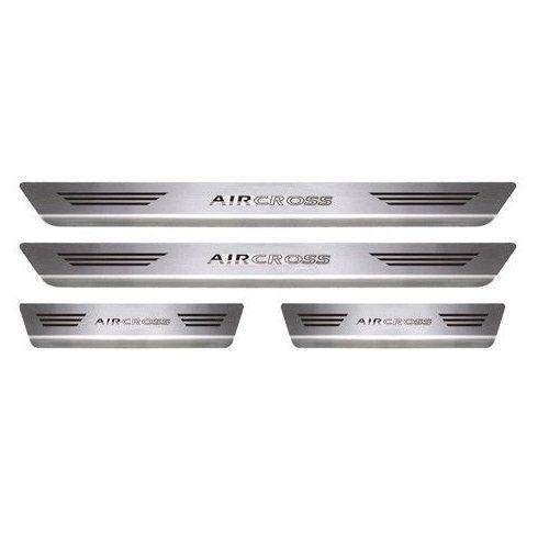 Soleira Porta Citroen Aircross Mult Inox Escovado