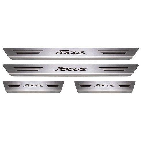 Soleira de Porta Mult Ford Focus Aço Inox Escovado