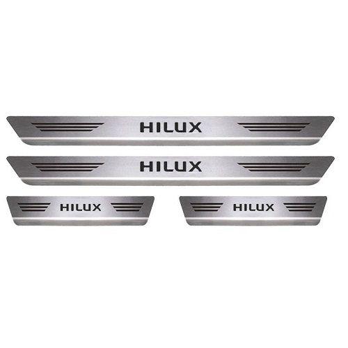 Soleira Porta Toyota Hilux Mult Inox Escovado