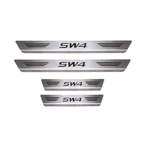 Soleira de Porta Mult Toyota SW4 Aço Inox Escovado