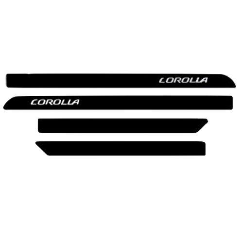 Jogo de Friso Lateral Sean Car Toyota Corolla 2015 a 2019 Preto