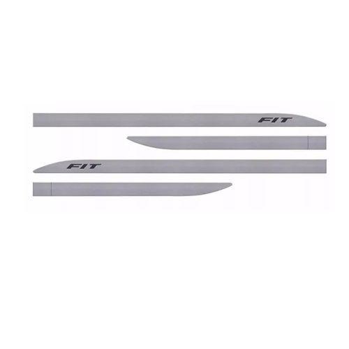 Kit Friso Lateral Sean Car Honda Fit Prata Platinum