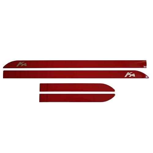 Jogo de Friso Lateral Sean Car Ford Ka Vermelho Arpoador