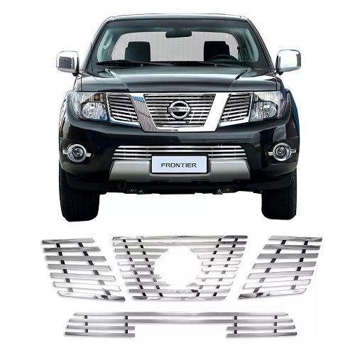 Sobre Grade Gtnox Nissan Frontier SEL 2008 a 2012 Inox Cromada Elite