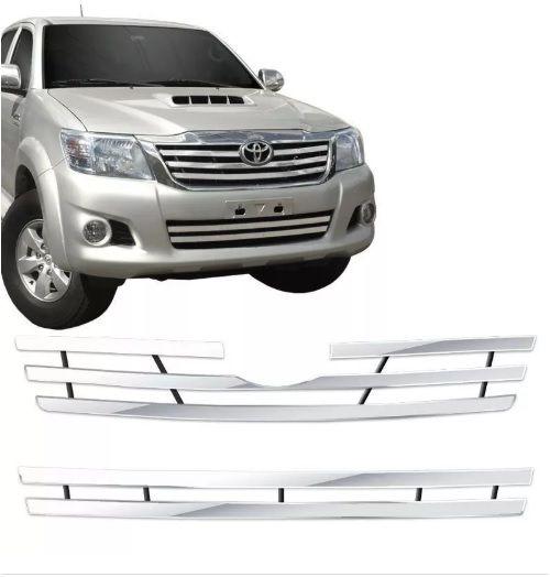 Sobre Grade Gtnox Toyota Hilux 2012 a 2015 Inox Cromada Max