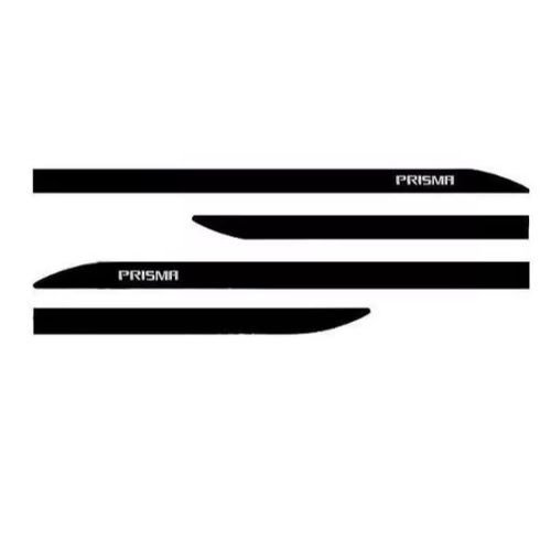 Kit Friso Lateral Sean Car Chevrolet Prisma Preto Ouro Negro