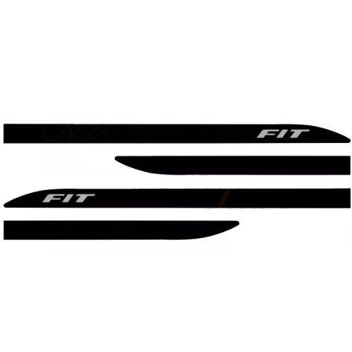 Kit Friso Lateral Sean Car Honda Fit Preto Cristal