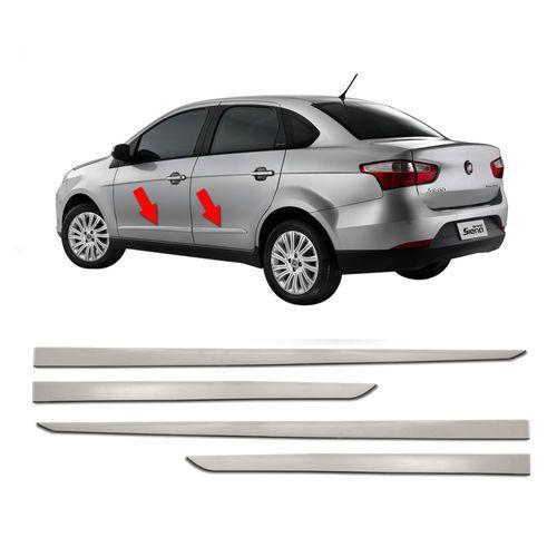 Kit Friso Lateral Flash Fiat Grand Siena 2012 a 2019 Cromado