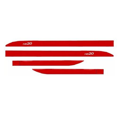 Kit Friso Lateral Sean Car Hyundai HB20 Vermelho Tropic