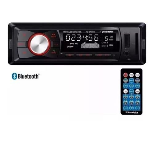 Rádio Automotivo RS2709BR AM FM MP3 USB SD Bluetooth Roadstar