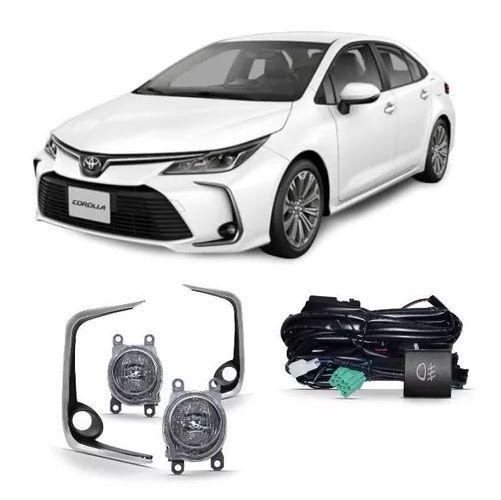 Kit Farol de Milha Suns Toyota Corolla 2020 Led Moldura e Botão Original