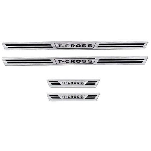 Soleira de Porta Veikko Volkswagen T-Cross Resinado Escovado