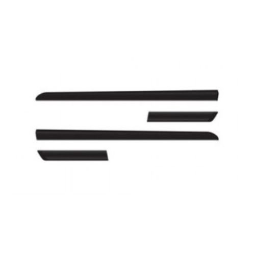 Kit Friso Lateral Sanfris Chevrolet Celta/Prisma 4 portas 2006 a 2015 Preto