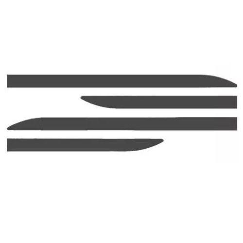Kit Friso Lateral Sanfris Honda City 2015 a 2020 Cinza Barium