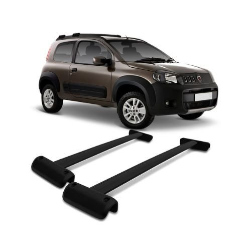 Travessa Rack Projecar Fiat Uno Way 2011 a 2019 Larga Preto