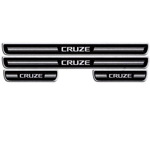 Soleira de Porta URA Chevrolet Cruze Resinado Escovado