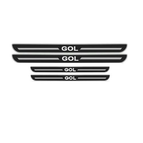 Soleira de Porta URA Volkswagen Gol Resinado Escovado