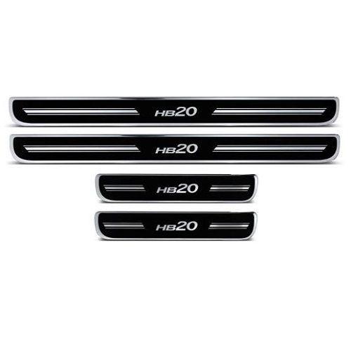 Soleira de Porta URA Hyundai HB20 Resinado Escovado