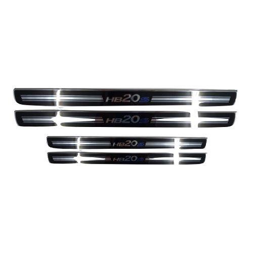 Soleira de Porta URA Hyundai HB20 Sedan Resinado Escovado