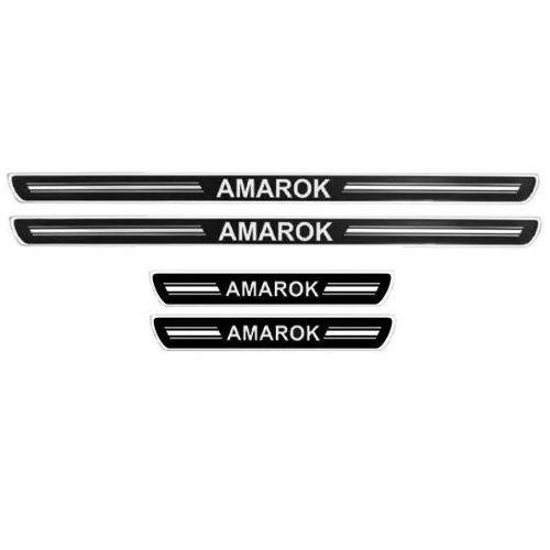 Soleira de Porta URA Volkswagen Amarok Resinado Escovado