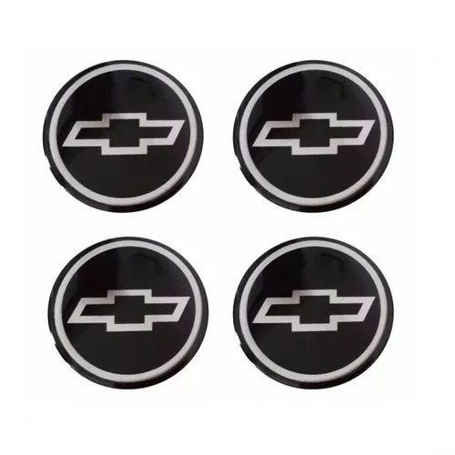 Emblema de Calota Chevrolet Cinza 48 mm Resina URA