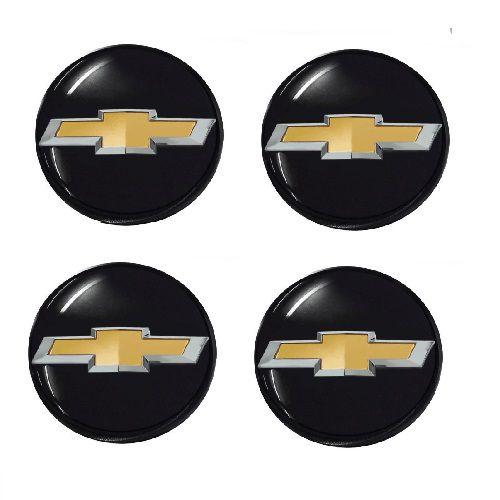 Emblema de Calota Chevrolet Preto 48 mm Resina URA