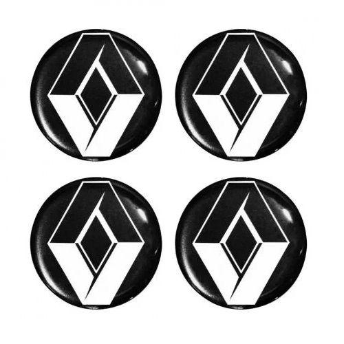 Emblema de Calota Renault Preto 48 mm Resina URA