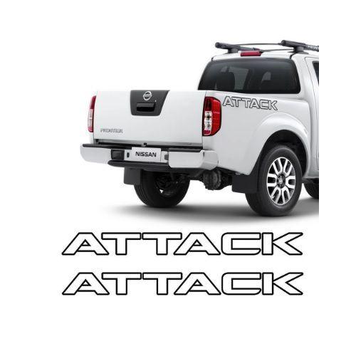 Faixa Decorativa Frontier Attack Preto Decal Line