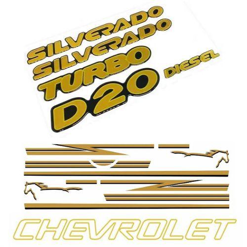 Faixa Decorativa Silverado D20 Amarelo Decal Line