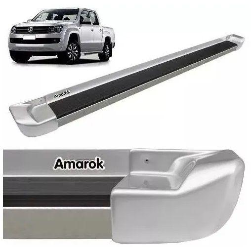 Estribo Lateral Attack Amarok Cabine Dupla 2011 a 2020 Prata Sirius