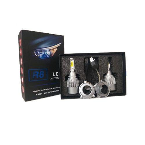 Kit Lâmpada Led H4 Bi Led 6500K 50W 6000 Lumen R8