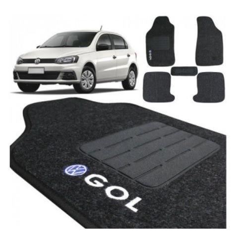 Tapete em Carpete Flash Gol G5 e G6 2009 a 2016 Grafite