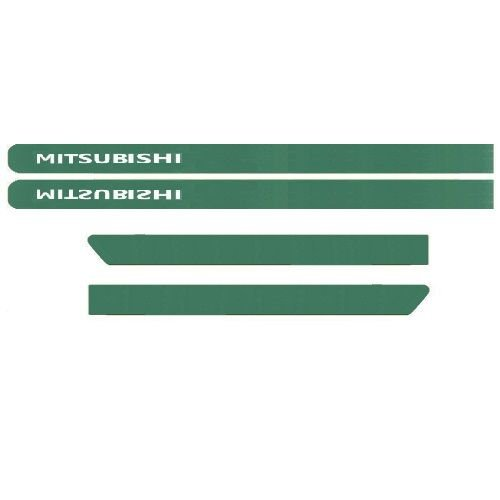 Kit Friso Lateral Mitisubishi Tr4 2010 a 2018 Verde Pantanal