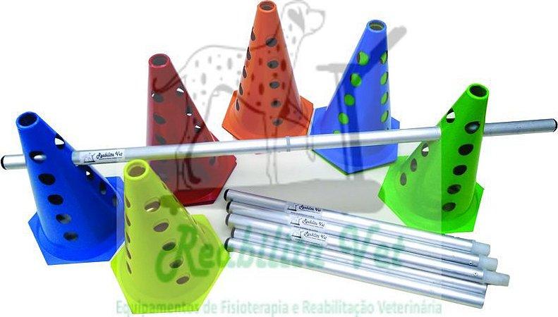 Kit Mini Cone Colorido com Bastão