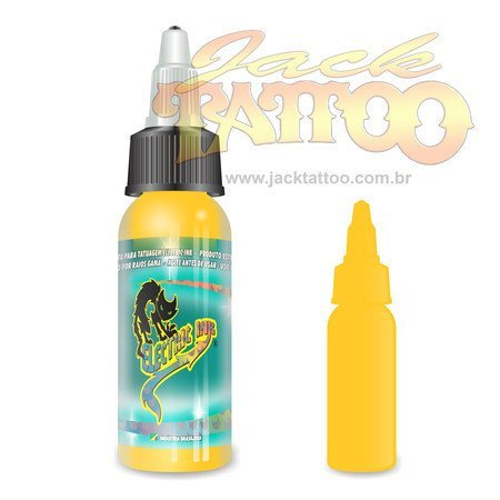 Tinta para Tatuagem - Ref 27 - Electric Ink 30ml - Amarelo Real