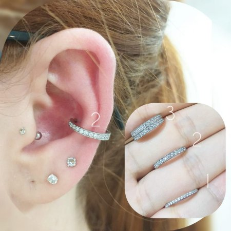 Piercing - Aço cirúrgico 316l com pedras zirconia