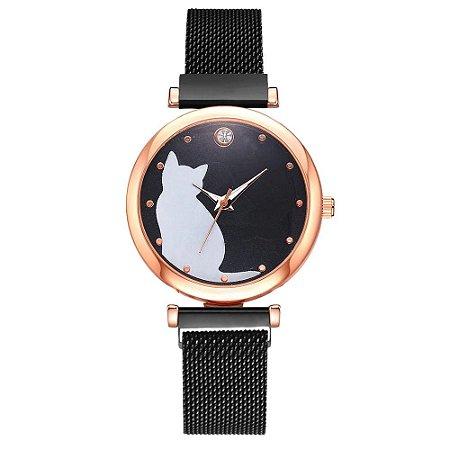 Relógio Girl Cat