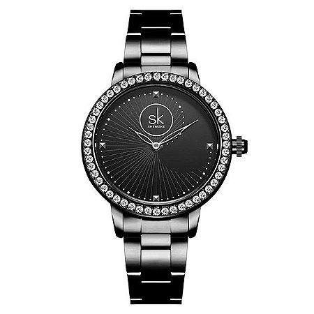Relógio Feminino Luxury Black