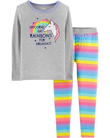 2a67da776746fd Pijamas 2 peças unicórnio manga longa e calça - Carter's