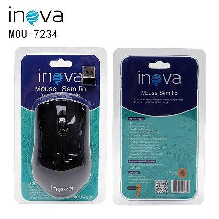 Mouse 7234 SEM FIO INOVA / COMPACTO,DESIGN MODERNO ALTA TECNOLOGIA ÓPTICA CONEXÃO USB-1600/2400/3200dpi