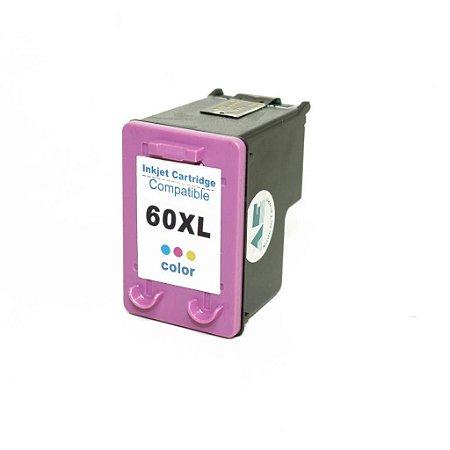 CARTUCHO COMPATÍVEL HP 60 XL COLOR 12,5 ML MICROJET- CC644WB | F4480 F4580 F4280 D1660 C4780 C4680