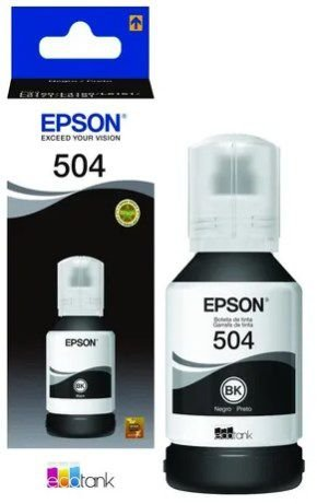 REFIL DE TINTA EPSON T504120 PRETO P/L6171/L4160/L4150