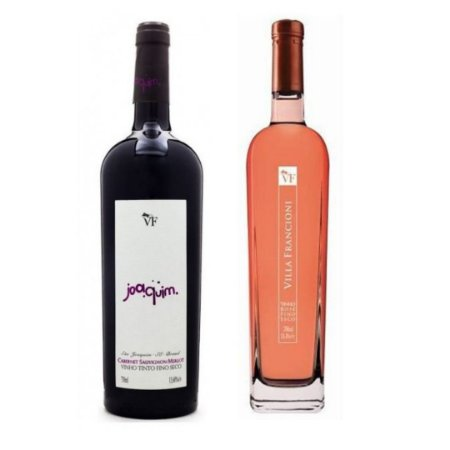 Vinho Rosè Villa Francioni + Vinho Tinto Joaquim BRA